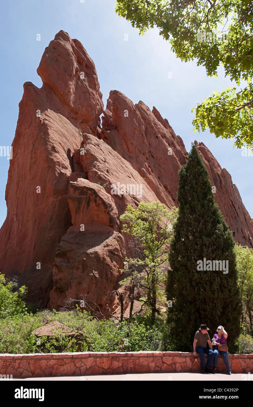 South Gateway Rock, Garden of the Gods, Colorado Springs CO Stock Photo