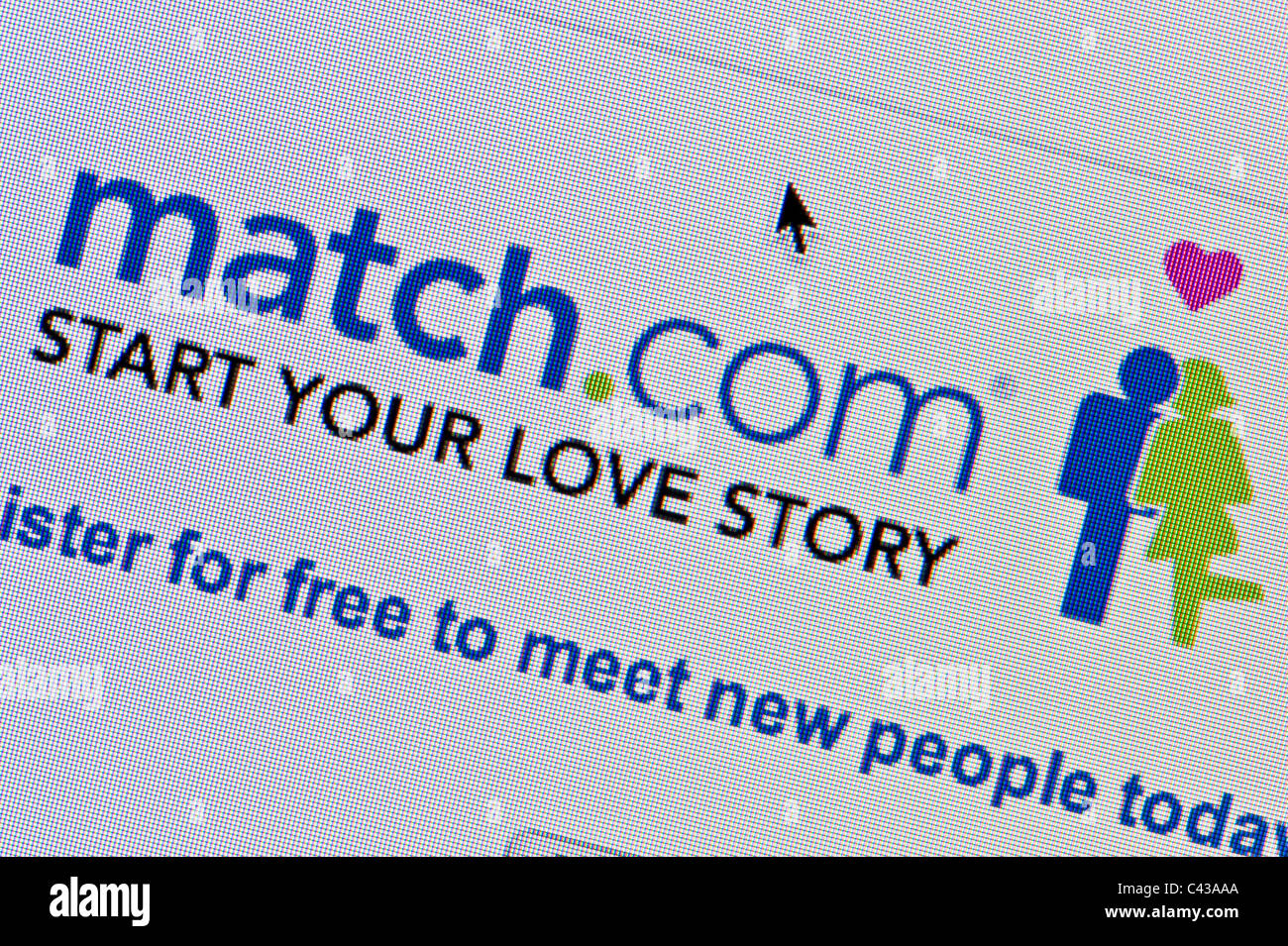 Close up of the Match.com logo as seen on its website. (Editorial use only: print, TV, e-book and editorial - Stock Image