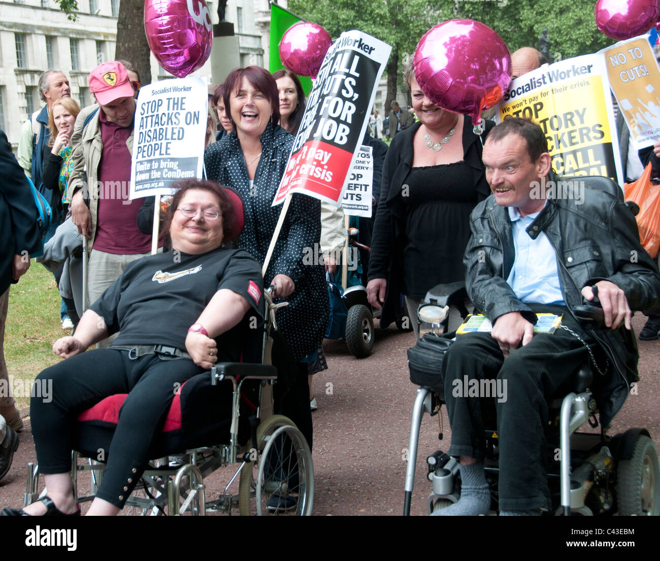 Westminster 11th May 2011. Hardest hit demonstration against government cuts to services to people with disabilities. - Stock Image