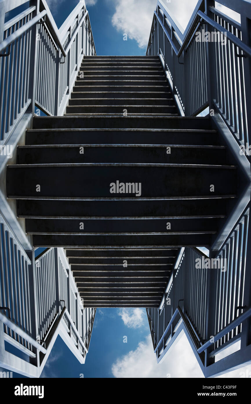 Abstract concrete steps - Stock Image
