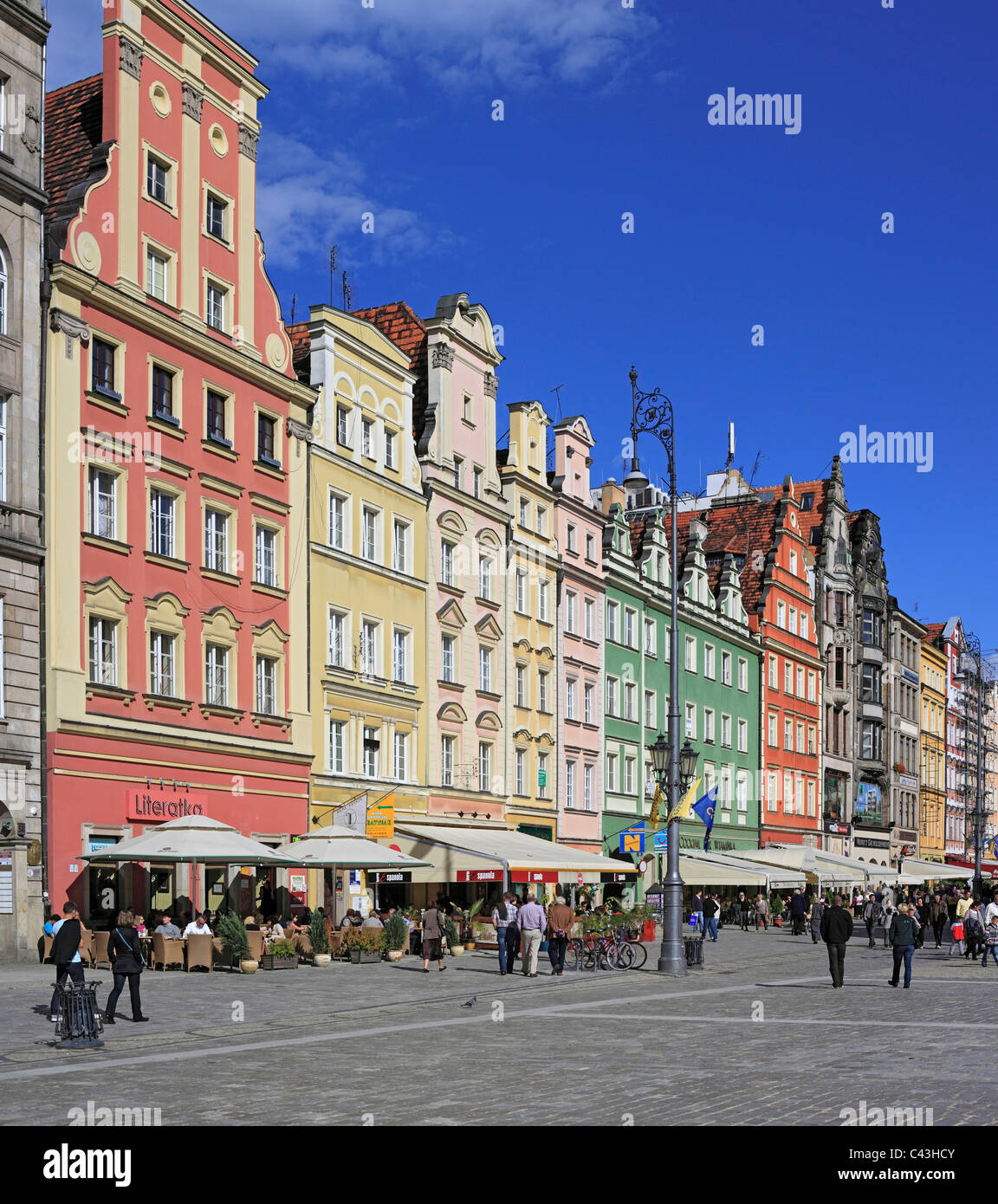 Poland, Polish, Eastern Europe, Central Europe, Europe, European, Architecture, building, house, Wroclaw, Lower - Stock Image