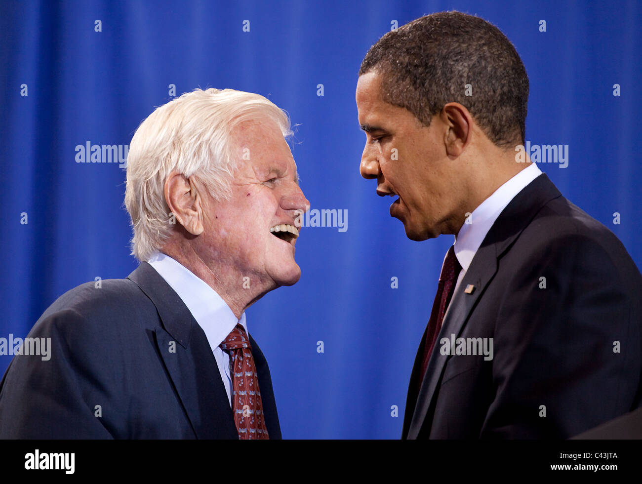 President Barack Obama and Senator Ted Kennedy in Washington, DC - Stock Image