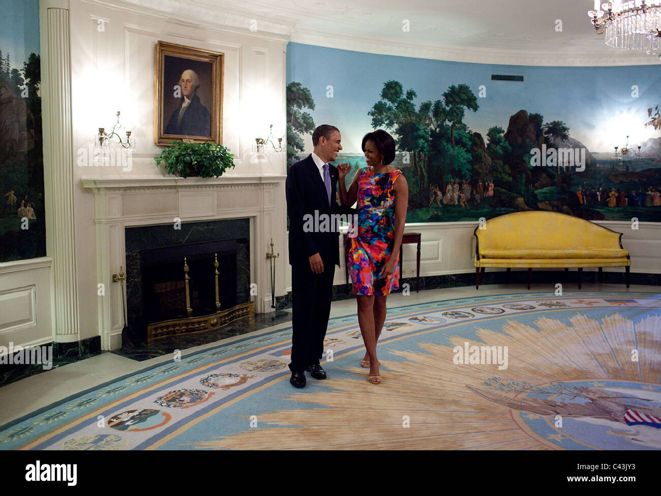 President Barack Obama with First Lady Michelle Obama - Stock Image