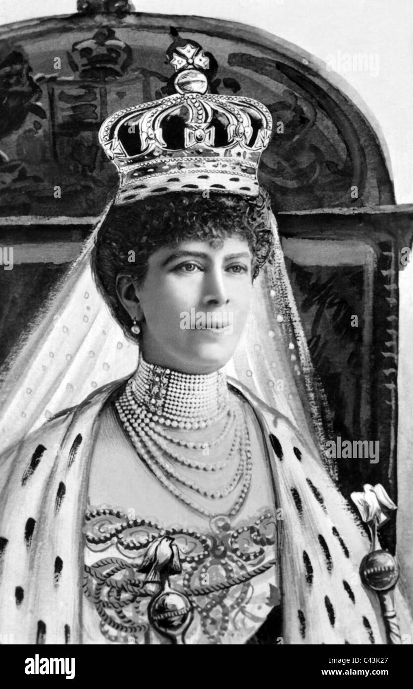 QUEEN MARY ROYAL FAMILY WIFE OF GEORGE V 1902 APROXIMATE DATE - Stock Image
