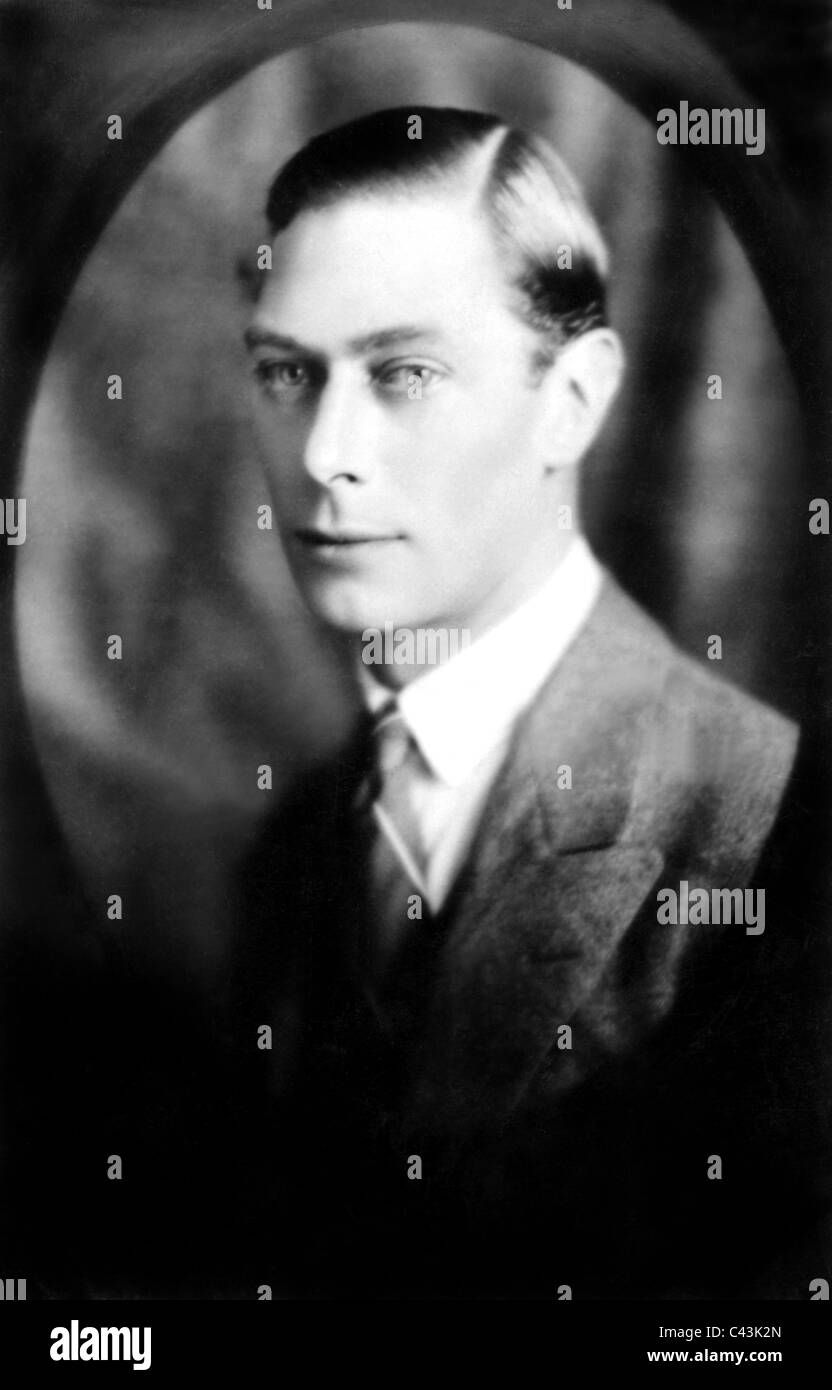 KING GEORGE VI KING OF ENGLAND ROYAL FAMILY 25 March 1937 APROXIMATE DATE - Stock Image