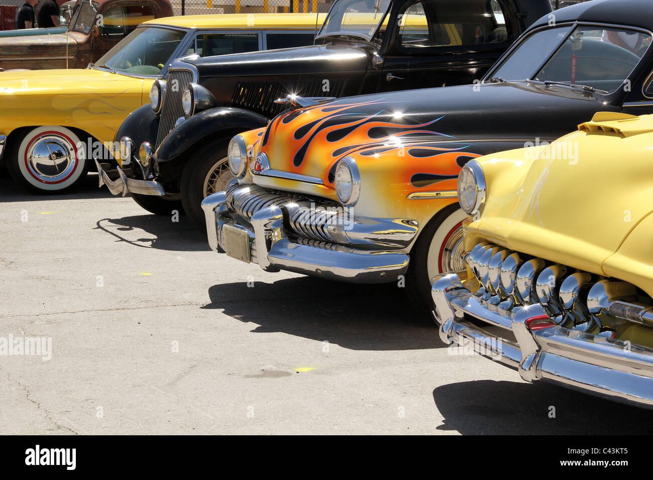 Hot rod cars - Stock Image