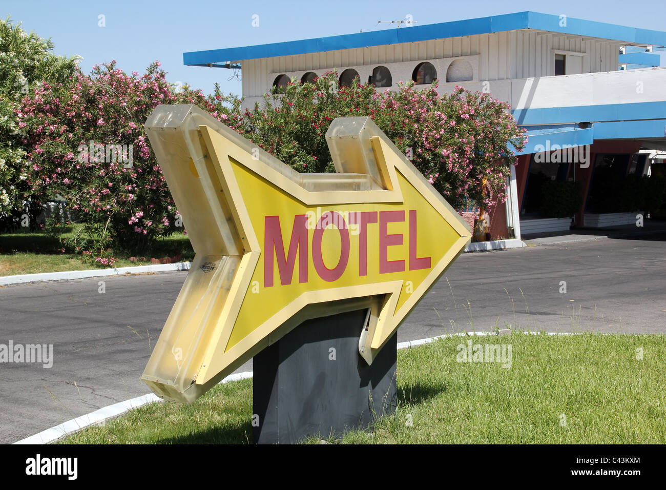 Motel Sign - Stock Image