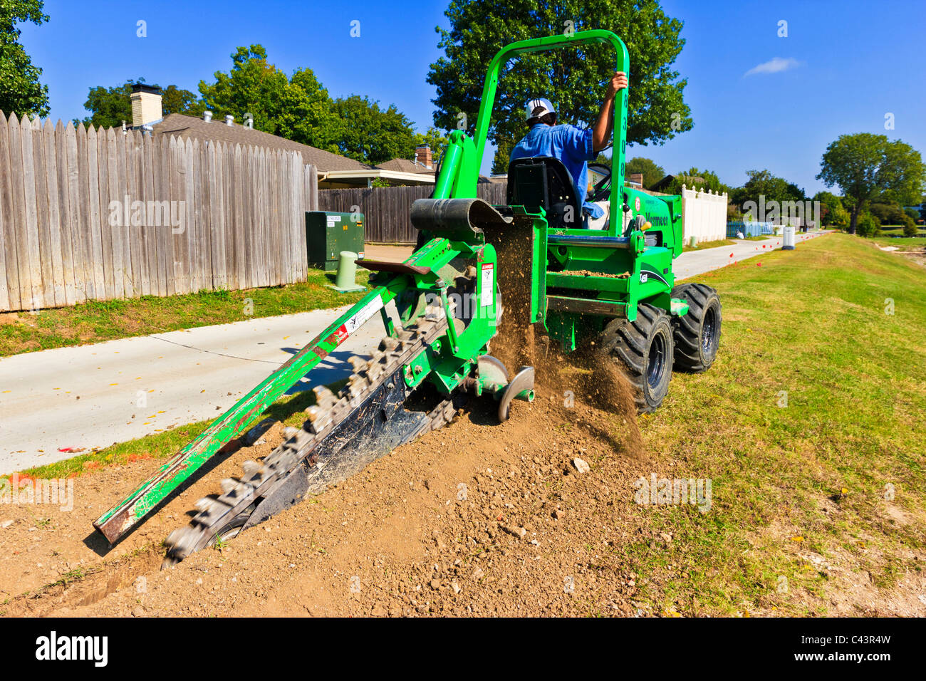 beautification, Chain trencher, construction equipment, dig trenches