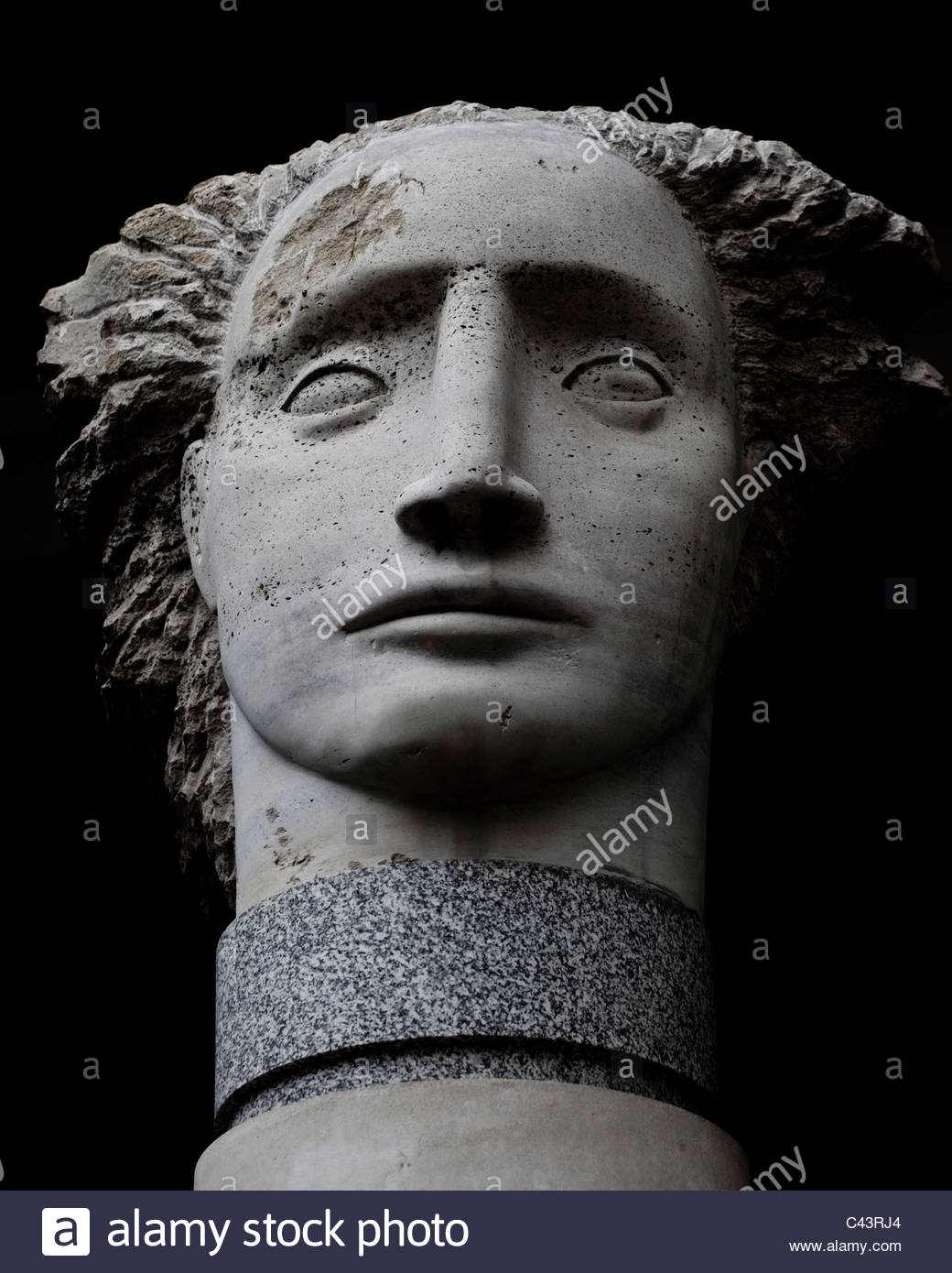 Angel Head Sculpture by Emily Young - Stock Image