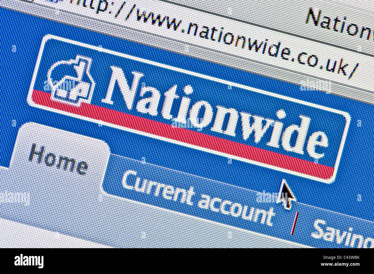 Close up of the Nationwide logo as seen on its website. (Editorial use only: ­print, TV, e-book and editorial - Stock Image