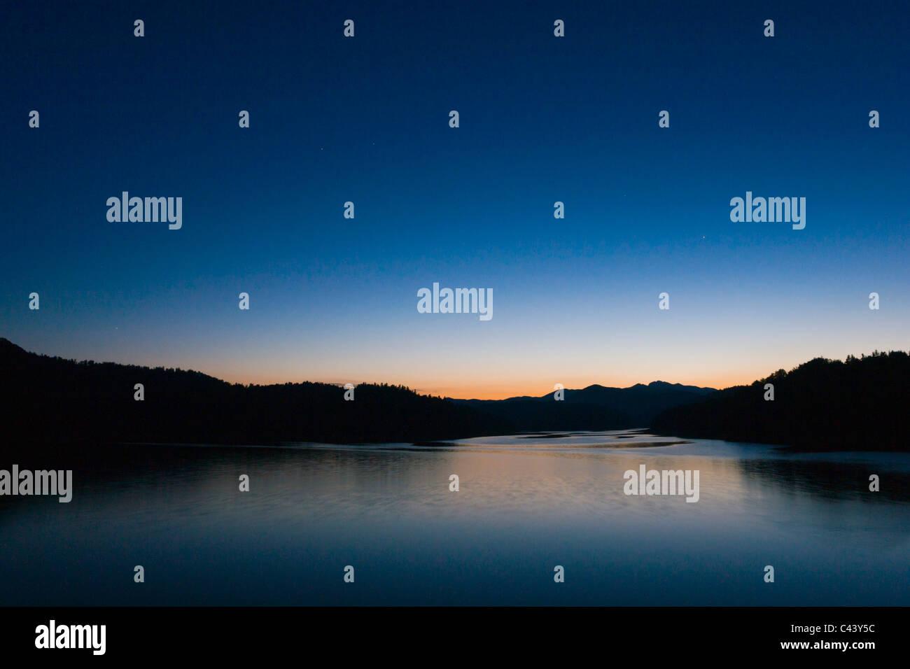Lokve lake in Gorski Kotar, Croatia Stock Photo