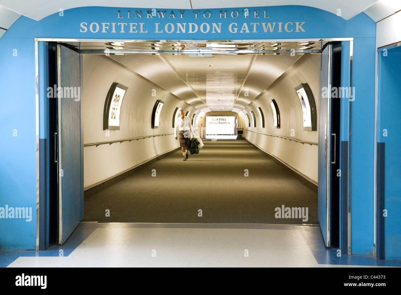 Entrance to the Sofitel Hotel, Gatwick Airport, UK - Stock Image