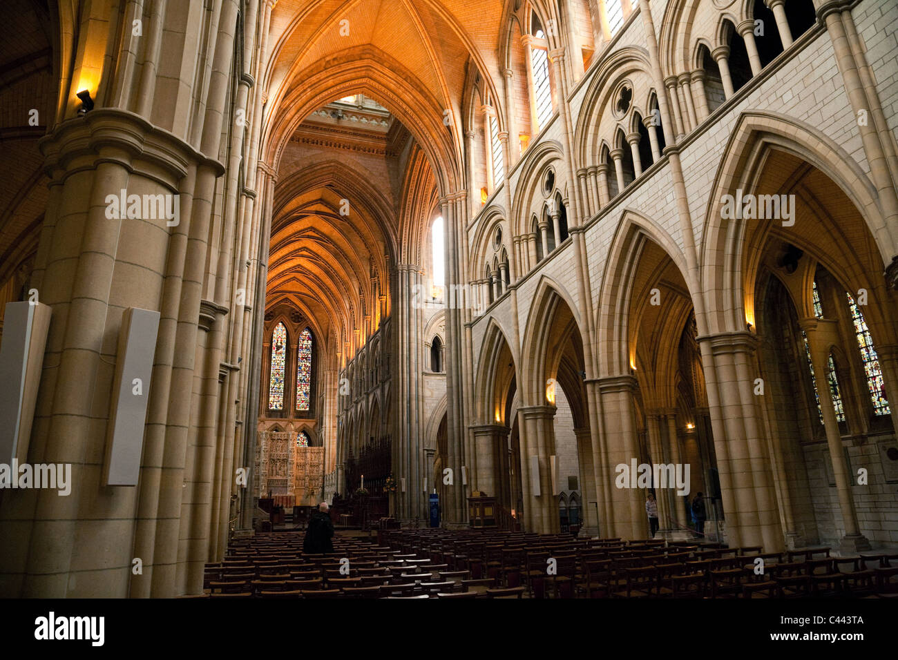 Inside Truro cathedral, Truro, Cornwall UK - Stock Image