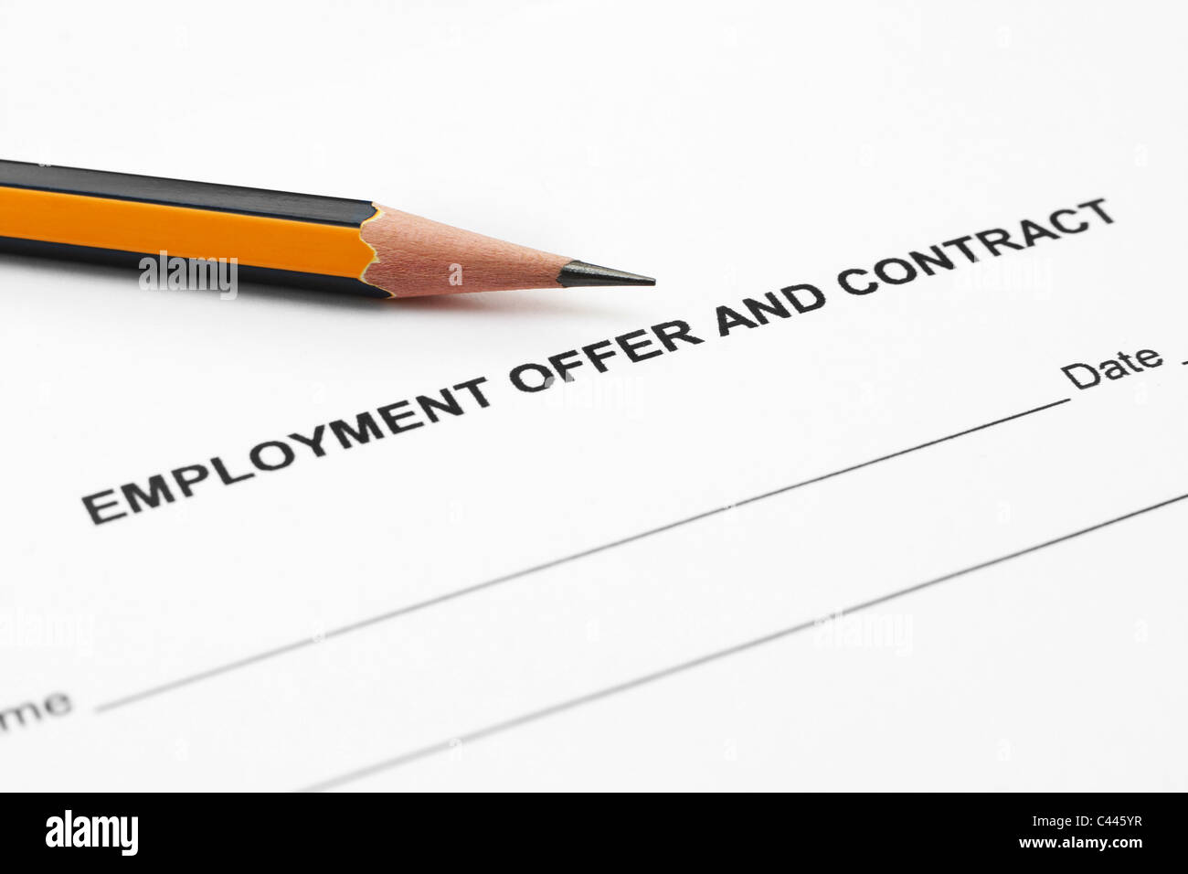 Employment offer and contract - Stock Image