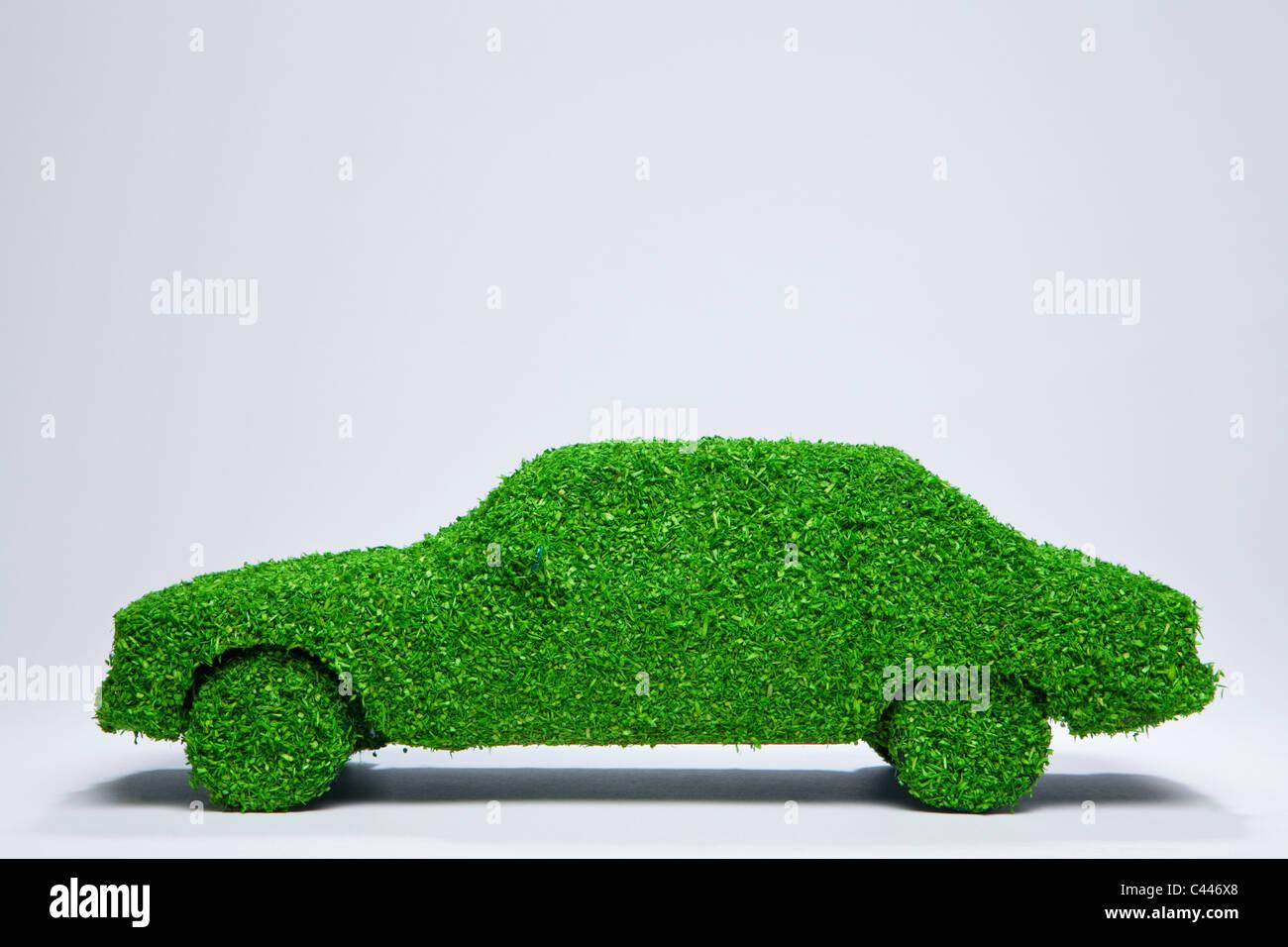 Green energy car. - Stock Image
