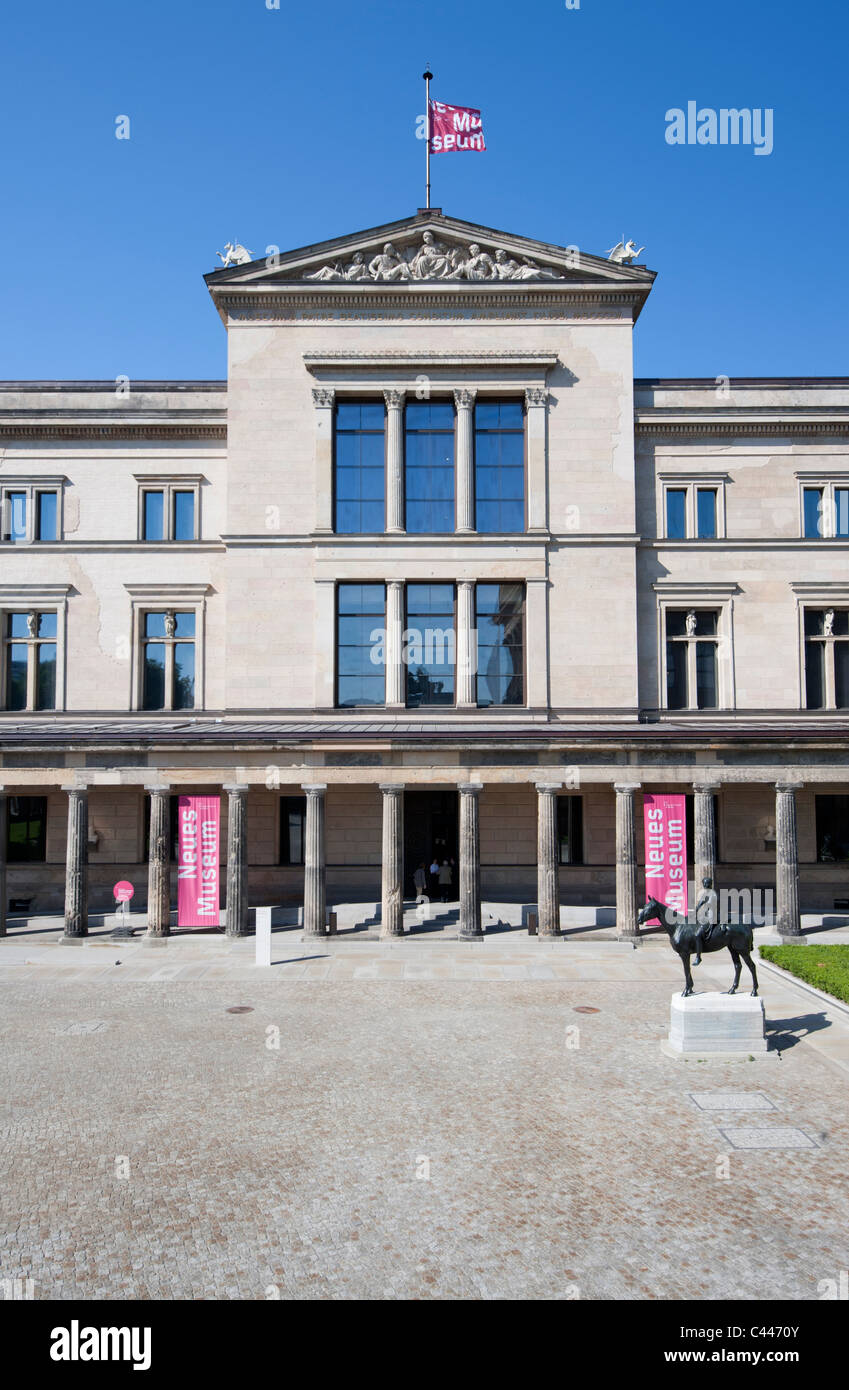 Exterior of Neues Museum or New Museum on Museum Island or Museumsinsel in Mitte district of Berlin Germany Stock Photo