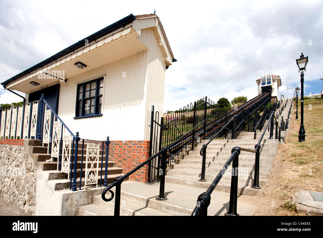 cliff railway lift at  Southend on Sea - Stock Image