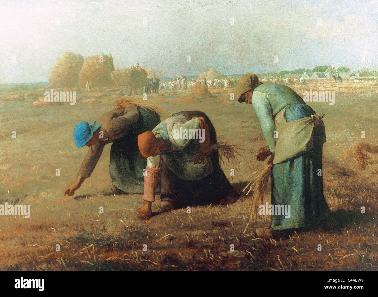 Jean-François Millet (1814-1875). French painter, one of the founders of the Barbizon School. The Gleaners - Stock Image