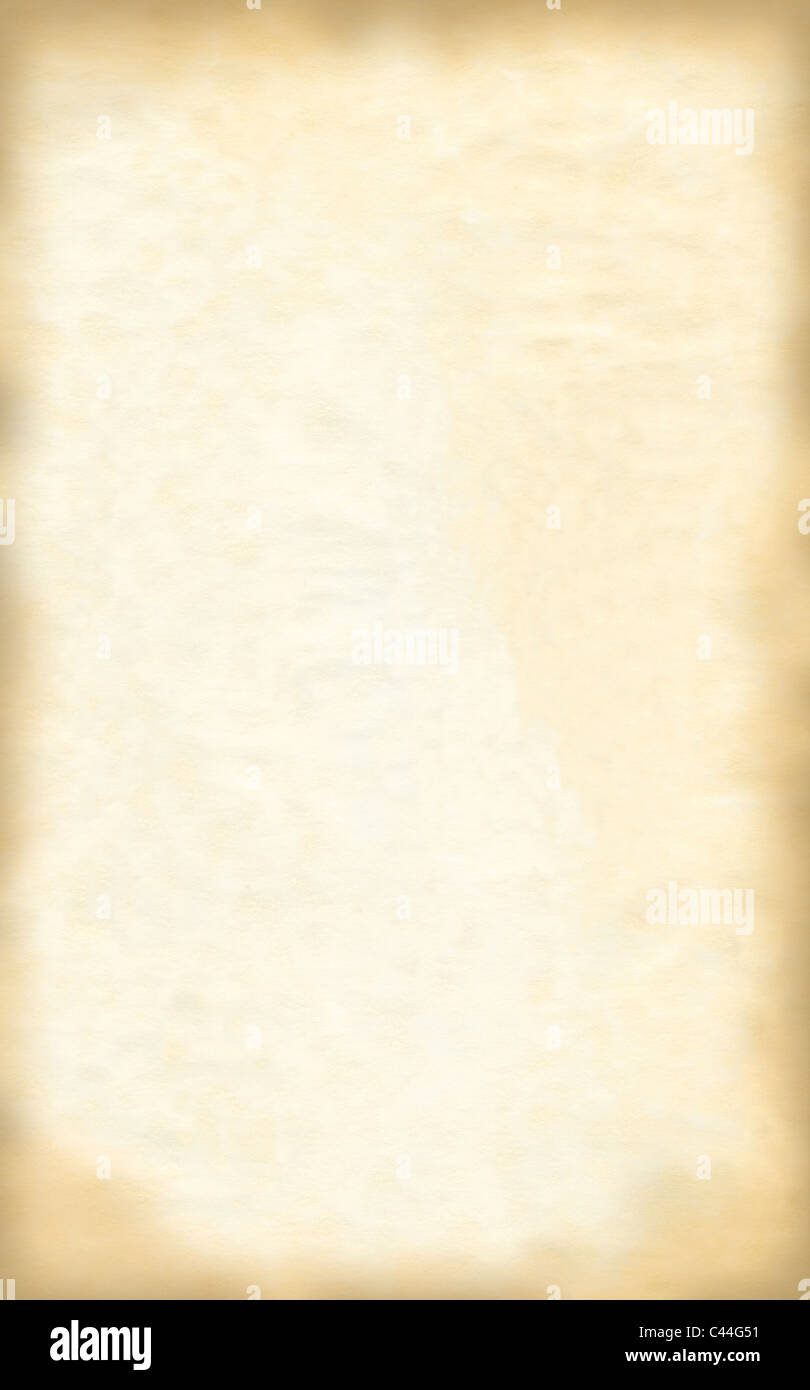 Old textured parchment paper ready for your backgrounds. - Stock Image