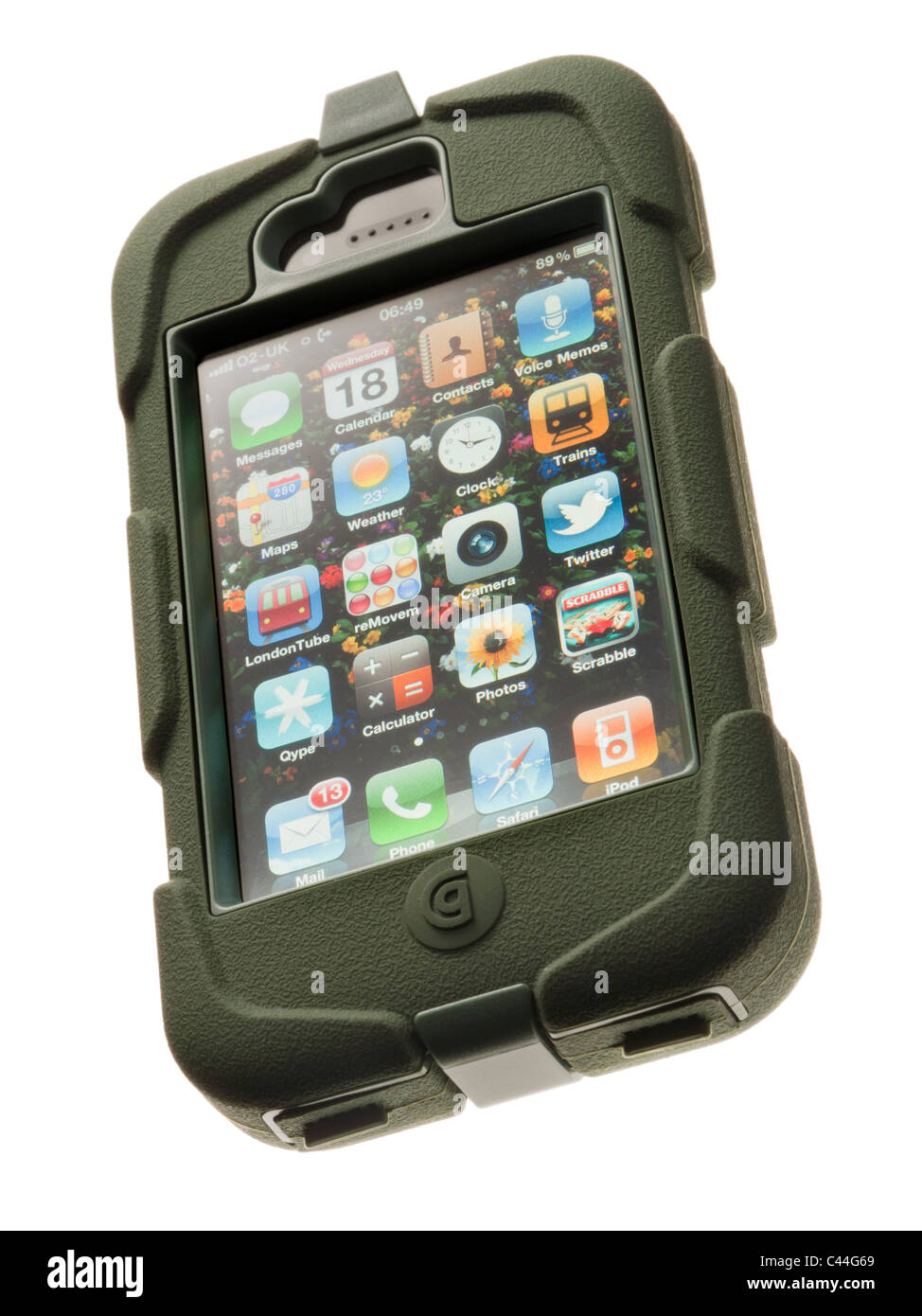 Apple iPhone 4 in tough case - Stock Image