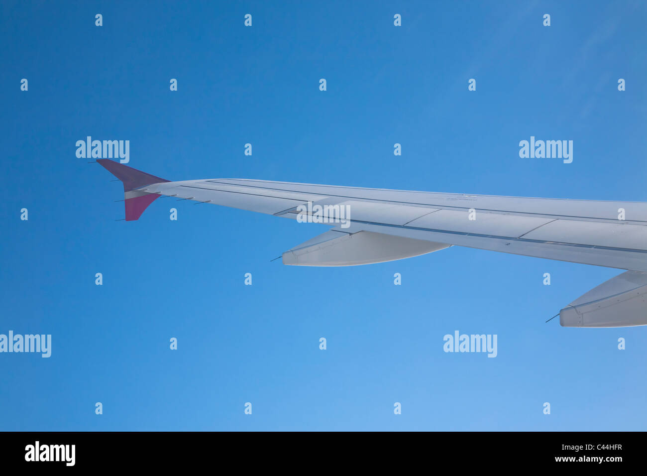 Airplane wing. TACA Airline - Stock Image