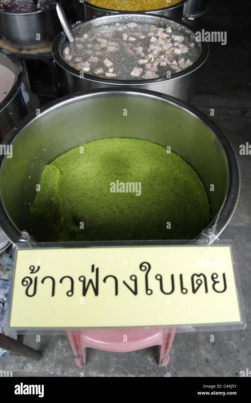 Millet Pandan , Thai sweet deserts - Stock Image