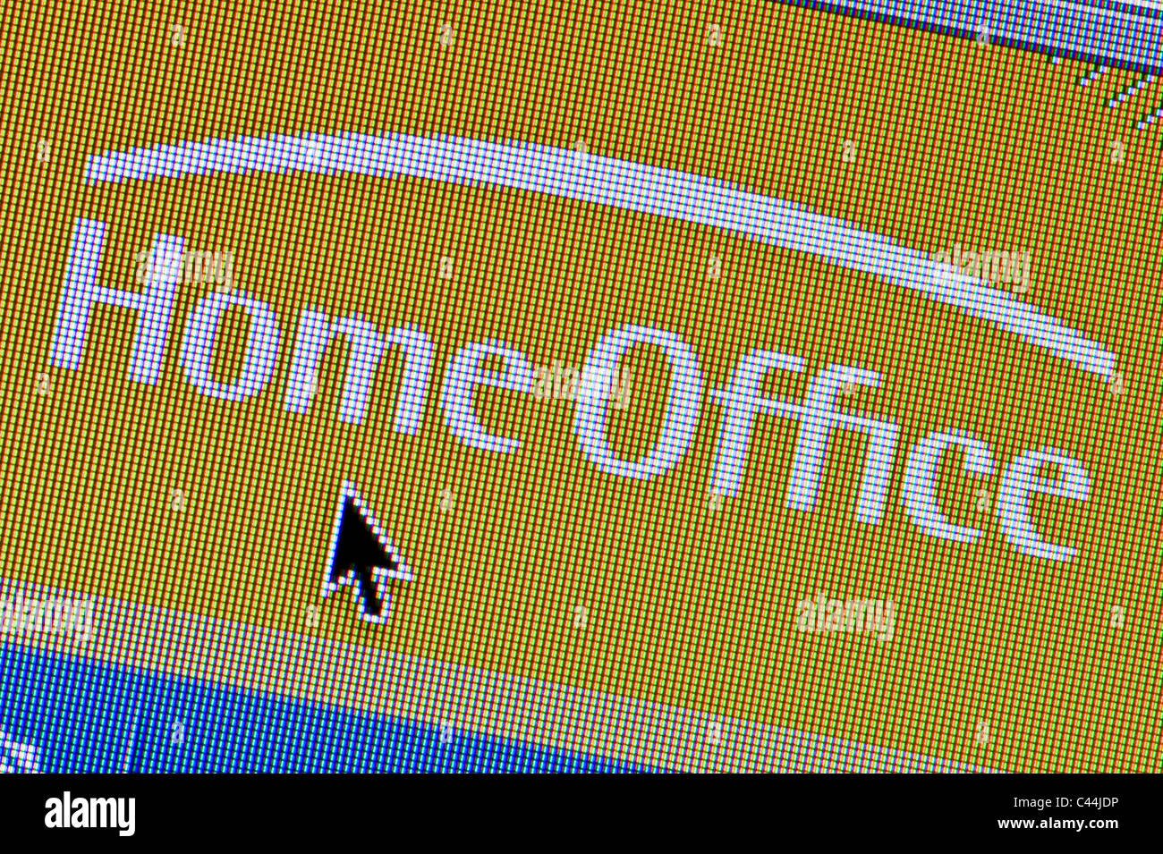 Close up of the Home Office logo as seen on its website. (Editorial use only: ­print, TV, e-book and editorial - Stock Image