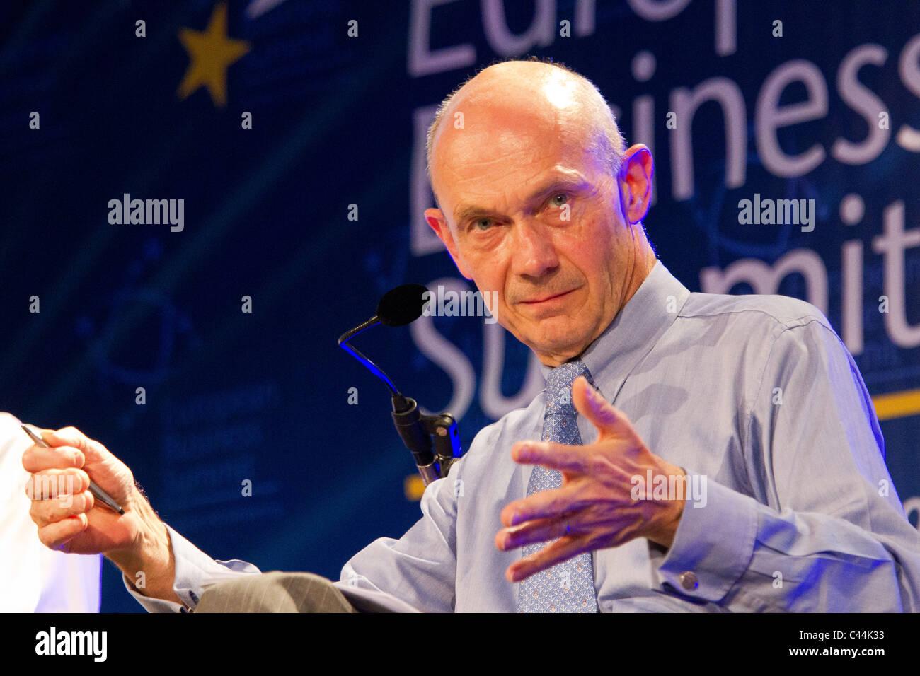 Pascal Lamy President emeritus Jacques Delors institute - Stock Image