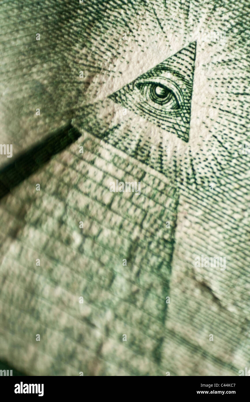 American dollar banknote detail - Stock Image
