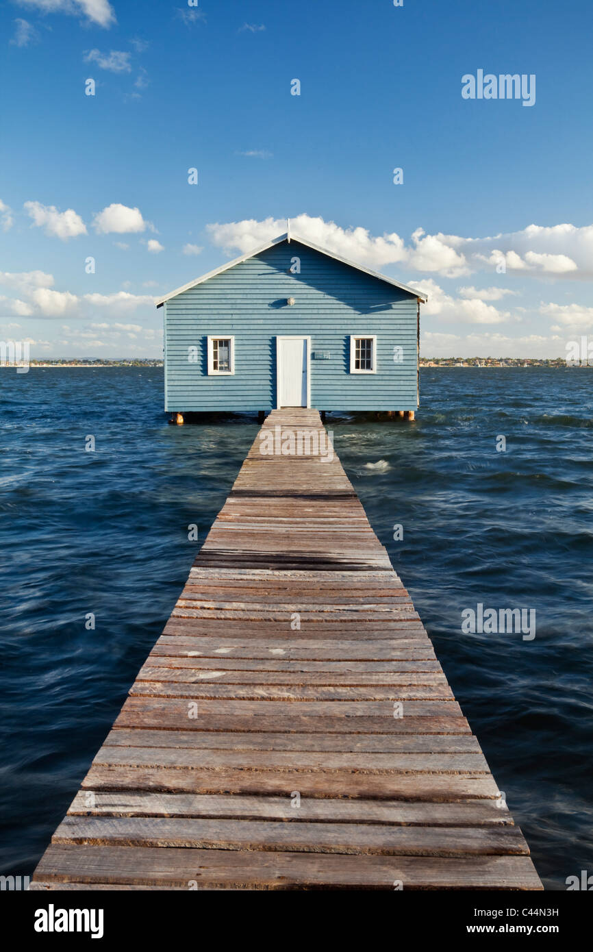 The Crawley Edge Boatshed on the Swan River. Perth, Western Australia, Australia - Stock Image