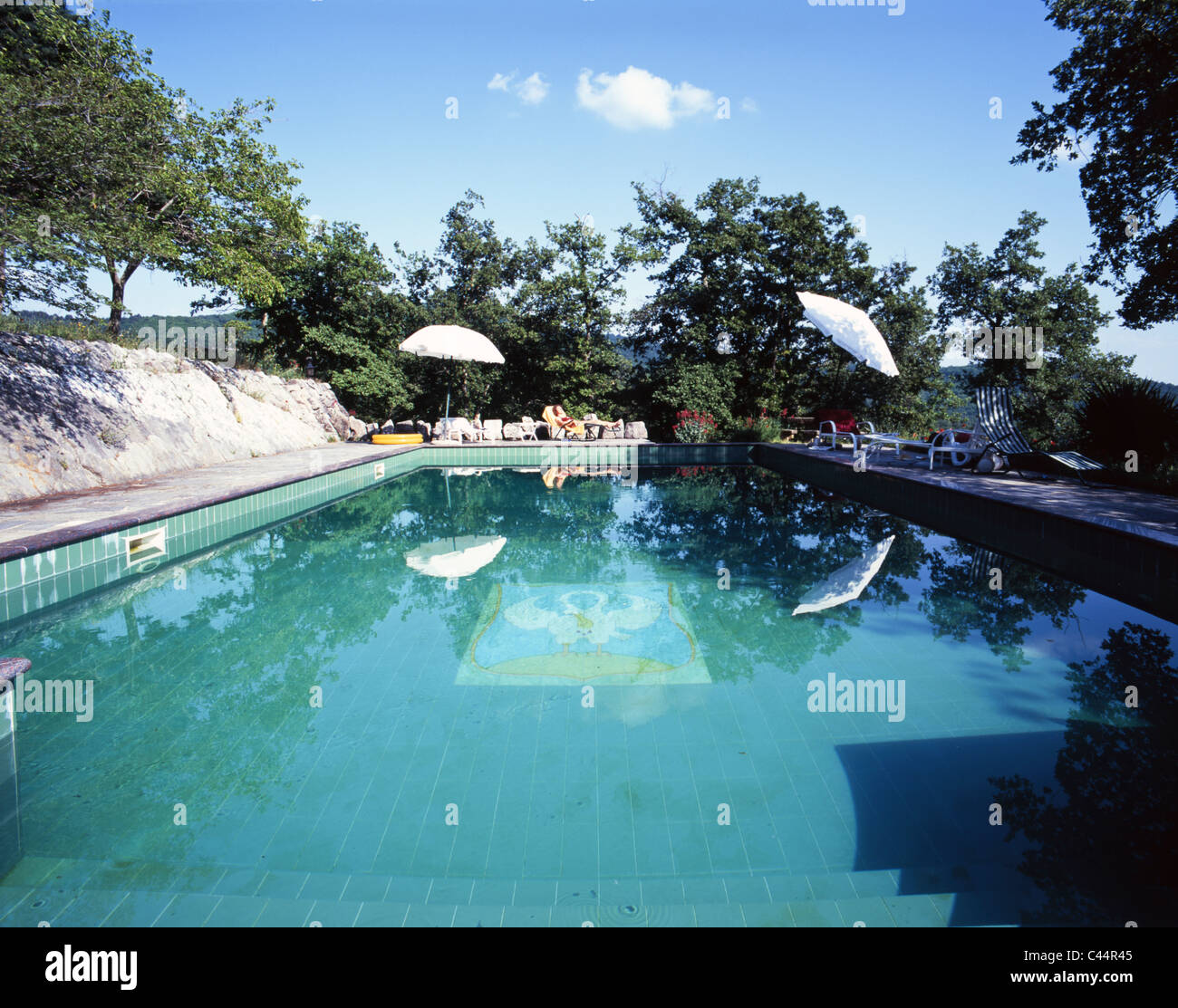 Private Swimming Pool On A Sunny Day In Nearby Radda In