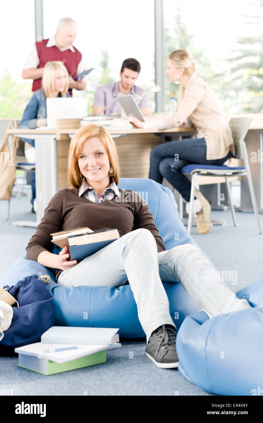 Students and professor - education and learning at high school or university - Stock Image