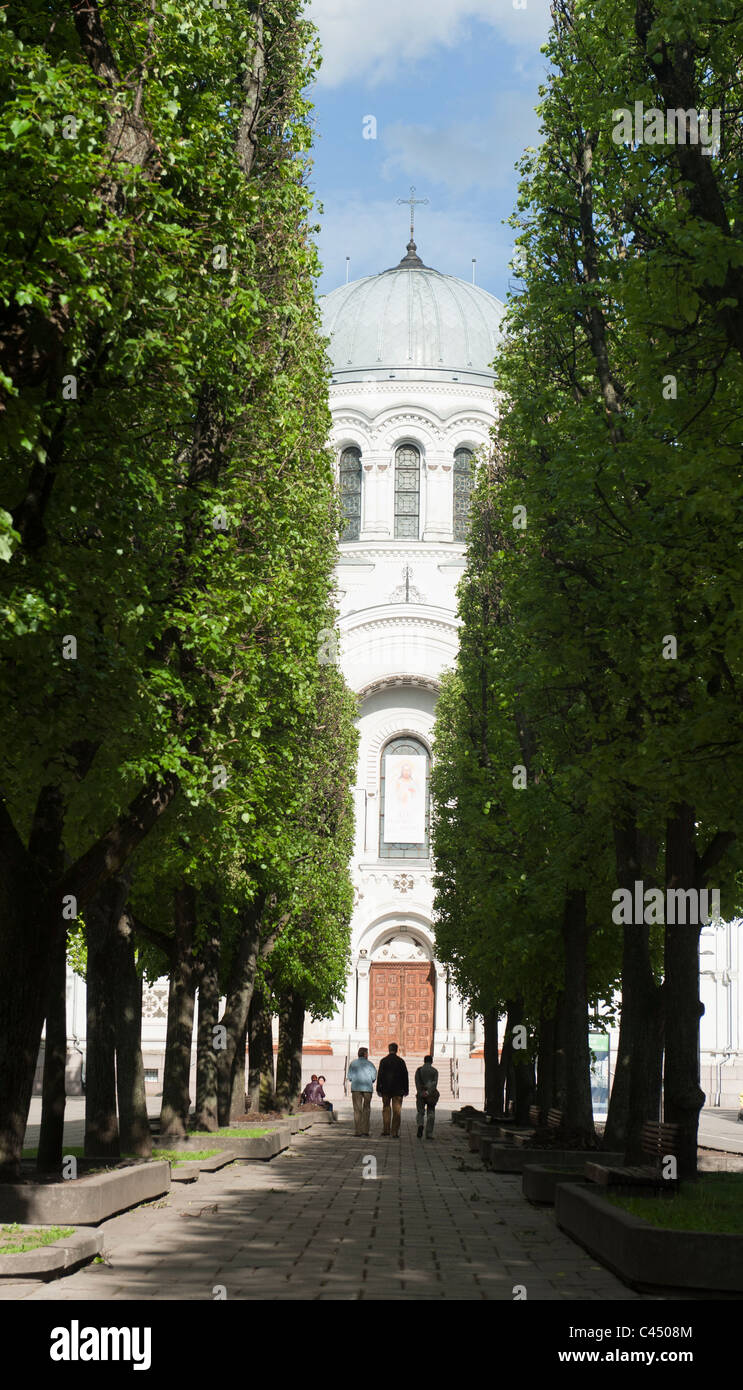 Church of Saint Michael the Archangel in Kaunas, Lithuania - Stock Image