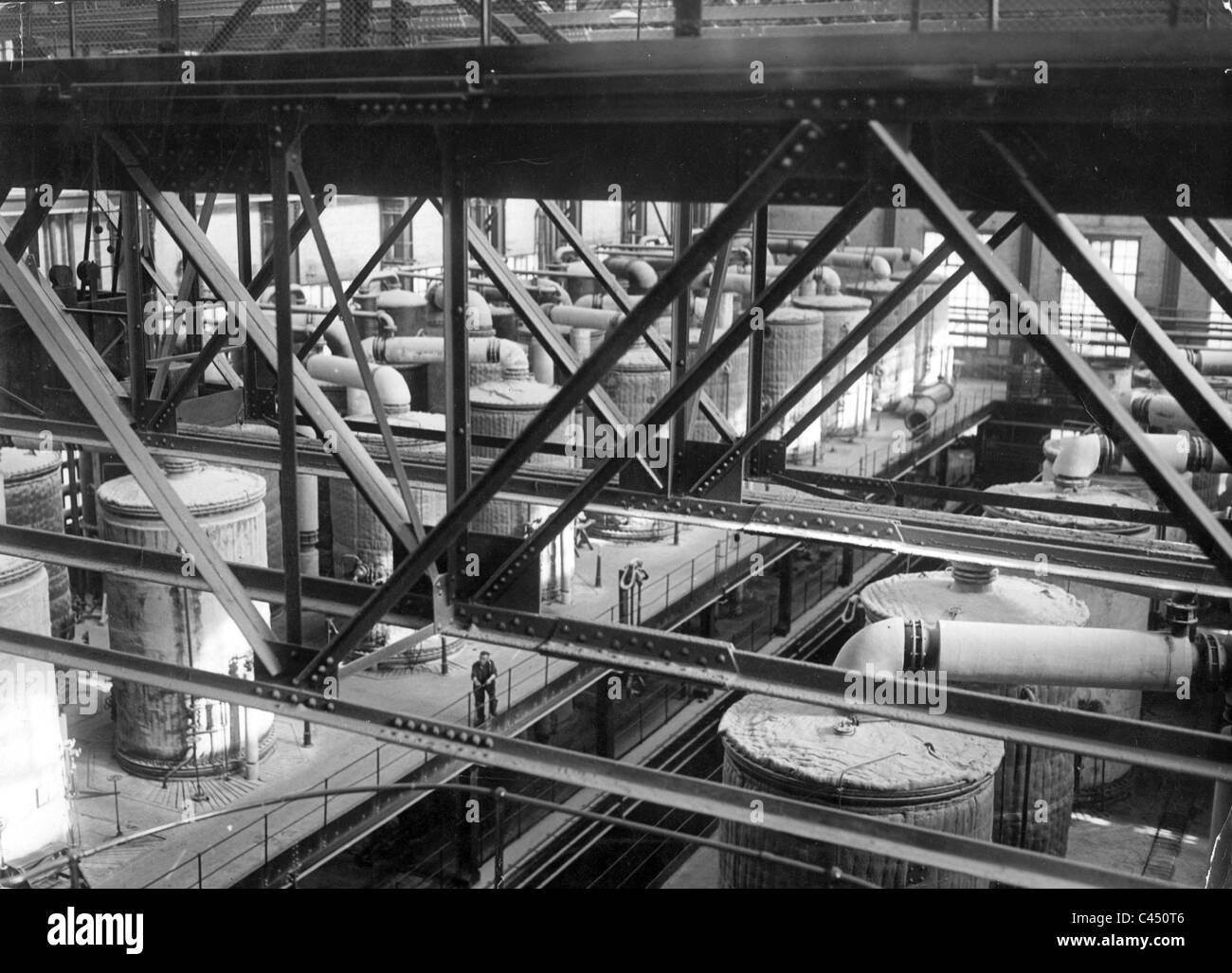 Leuna factory, 1934 - Stock Image