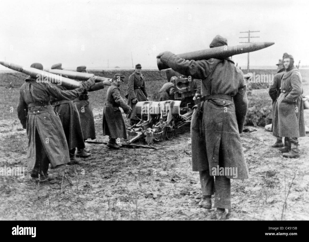 German 8,8cm antitank gun PAK 43 at Shitomir (Zhytomyr), December 1943 - Stock Image