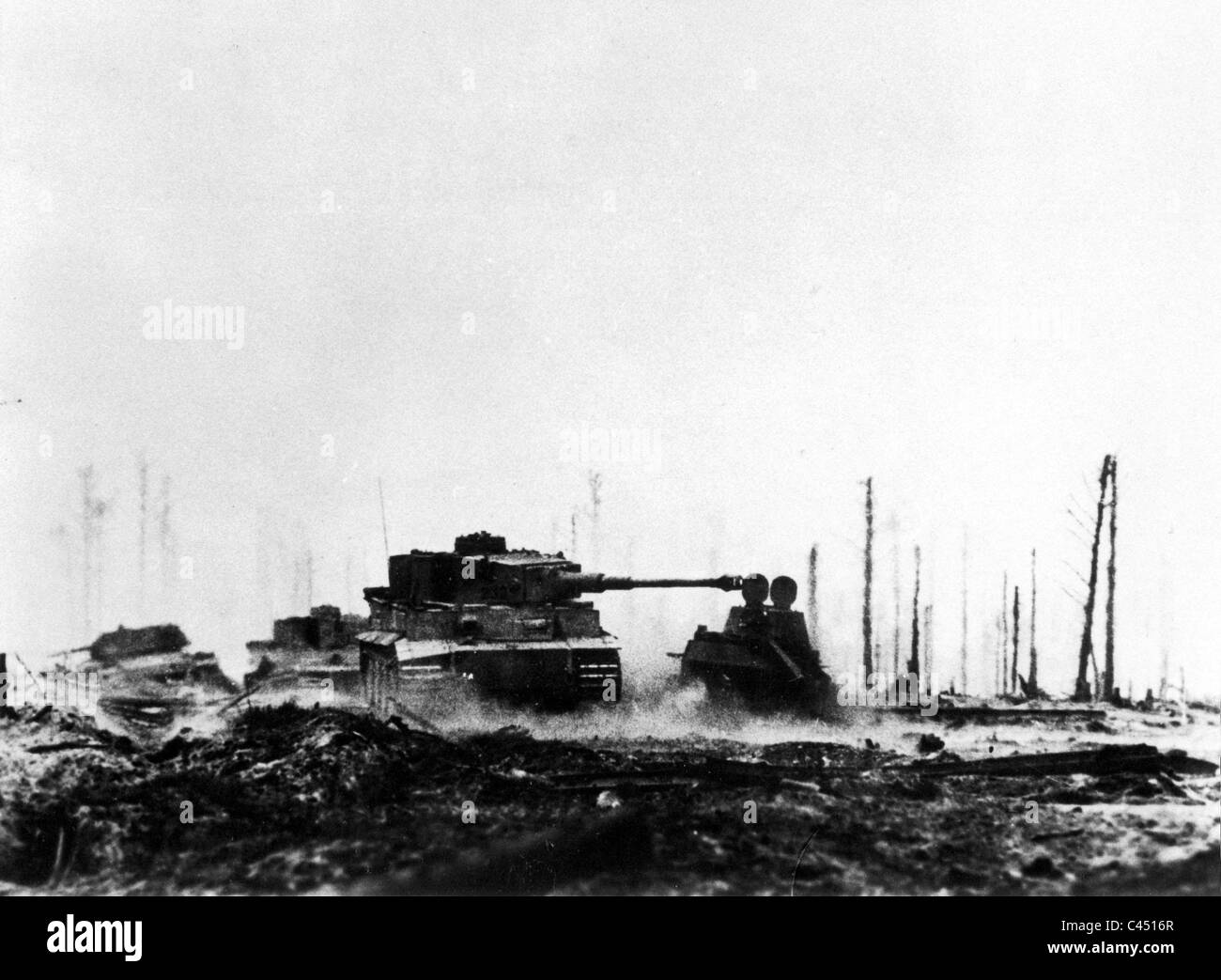 German Tiger Tank Black and White Stock Photos & Images - Alamy