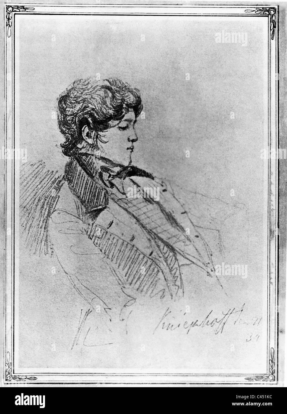 Otto von Bismarck, 1834 Stock Photo