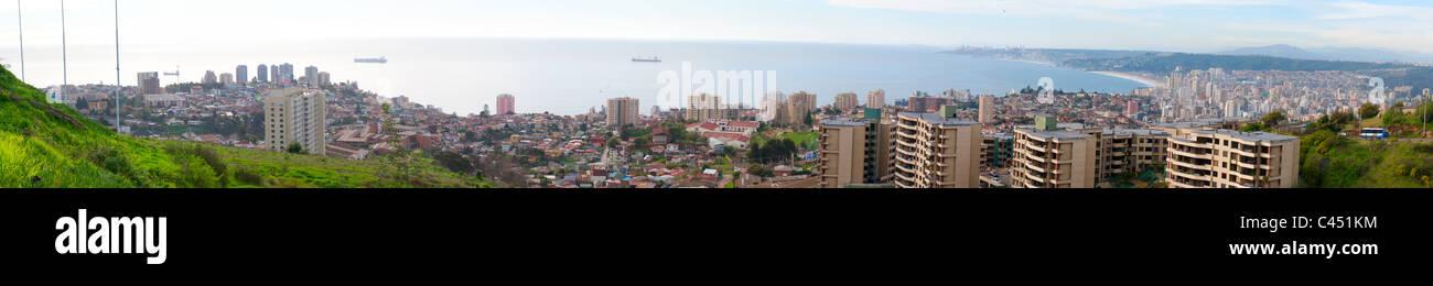 Panorama of Valparaiso - Chile - Stock Image