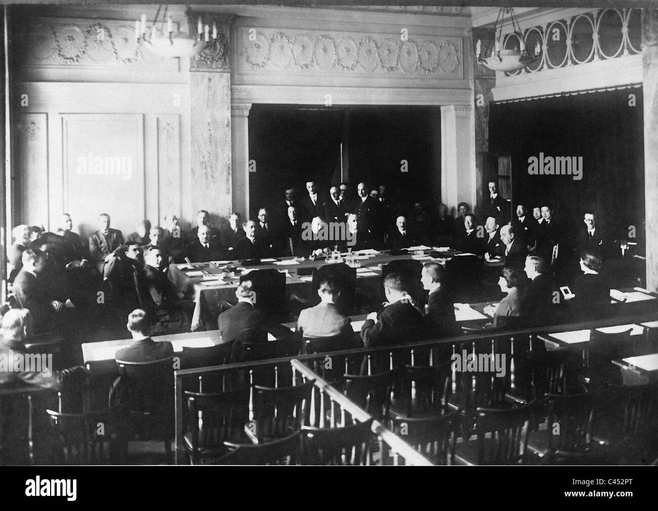 League of Nations meeting, 1926 Stock Photo