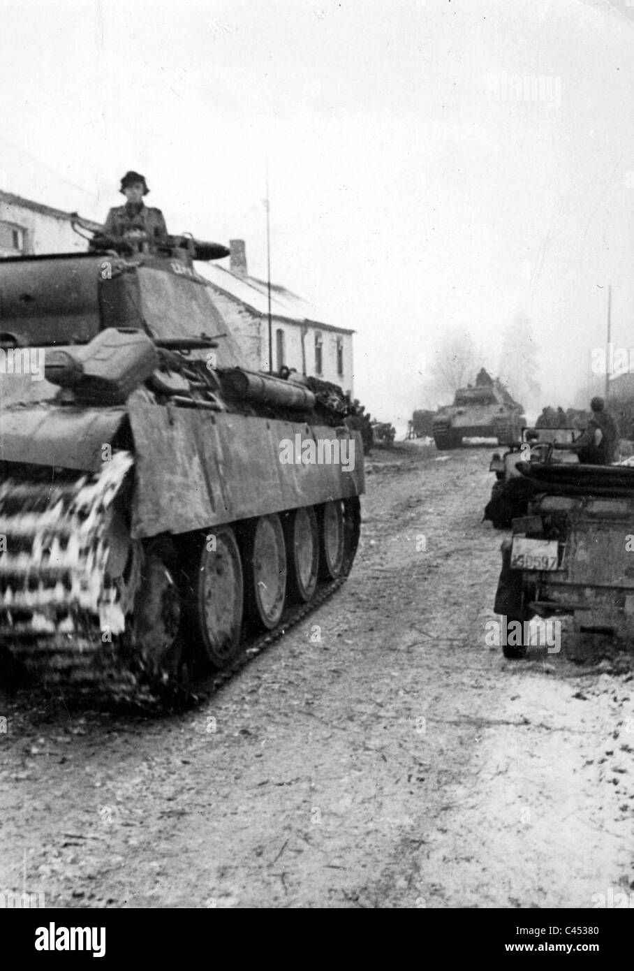 German panther tanks in the ardennes 1945 stock photo 36991696 alamy german panther tanks in the ardennes 1945 publicscrutiny Gallery