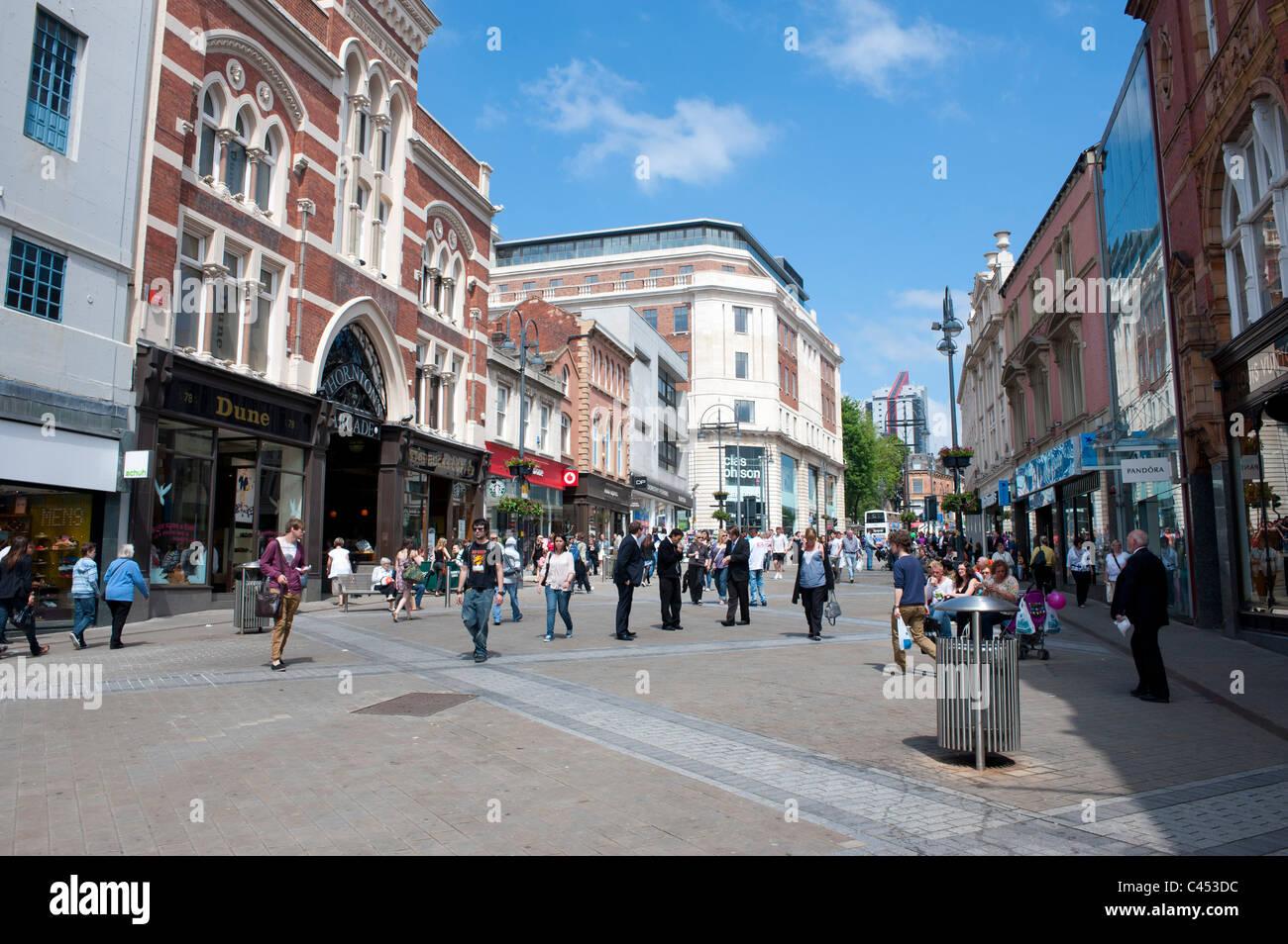 Briggate, Leeds - Stock Image
