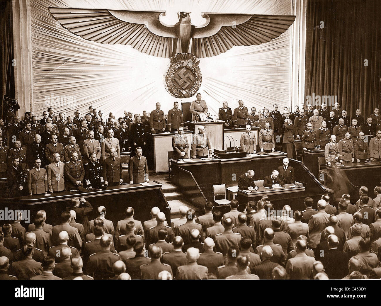 Hitler At The Reichstag on April 26, 1942 - Stock Image