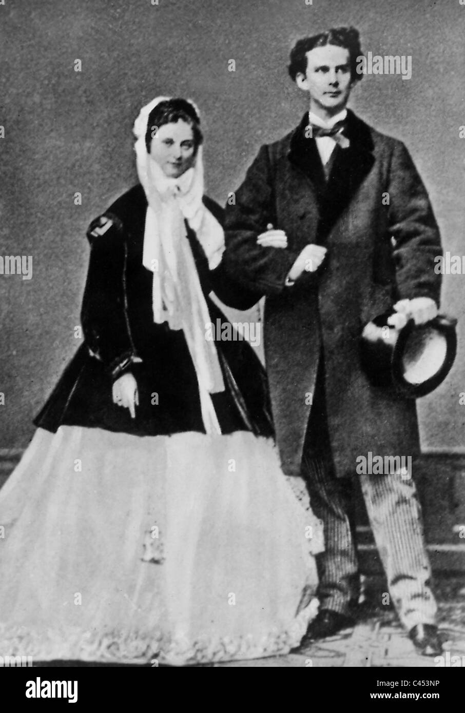 King Ludwig Ii Of Bavaria With Sophie Charlotte  1867