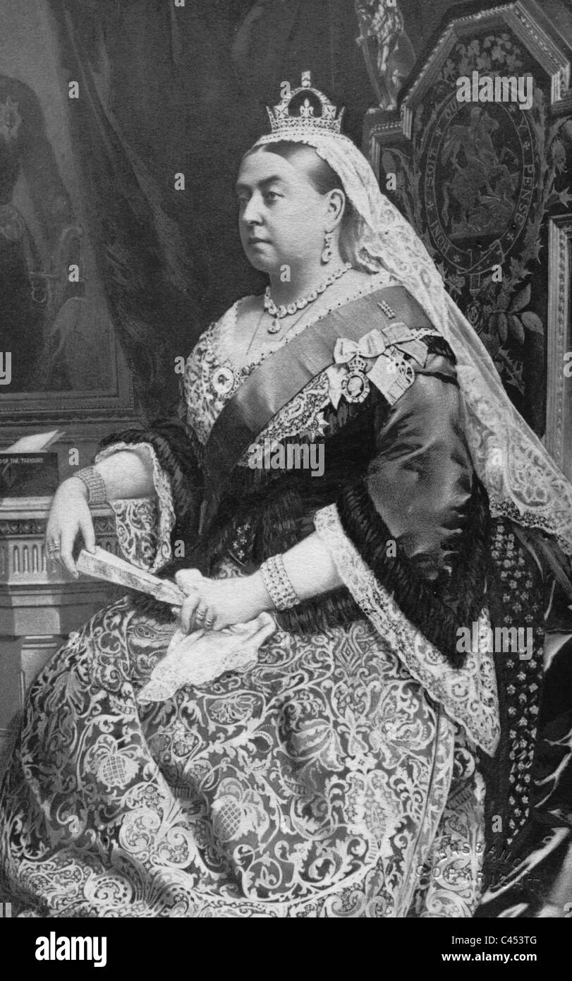 Queen Victoria of England, 1880 - Stock Image