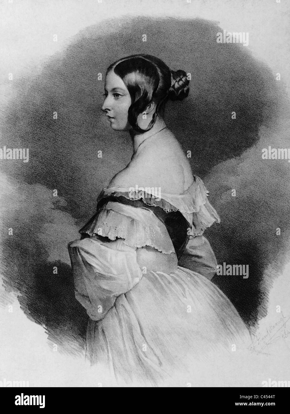 Queen Victoria of Great Britain, 1836 - Stock Image
