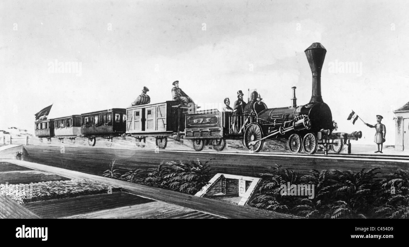 Train of the Berlin-Zehlendorfer railway, 1844