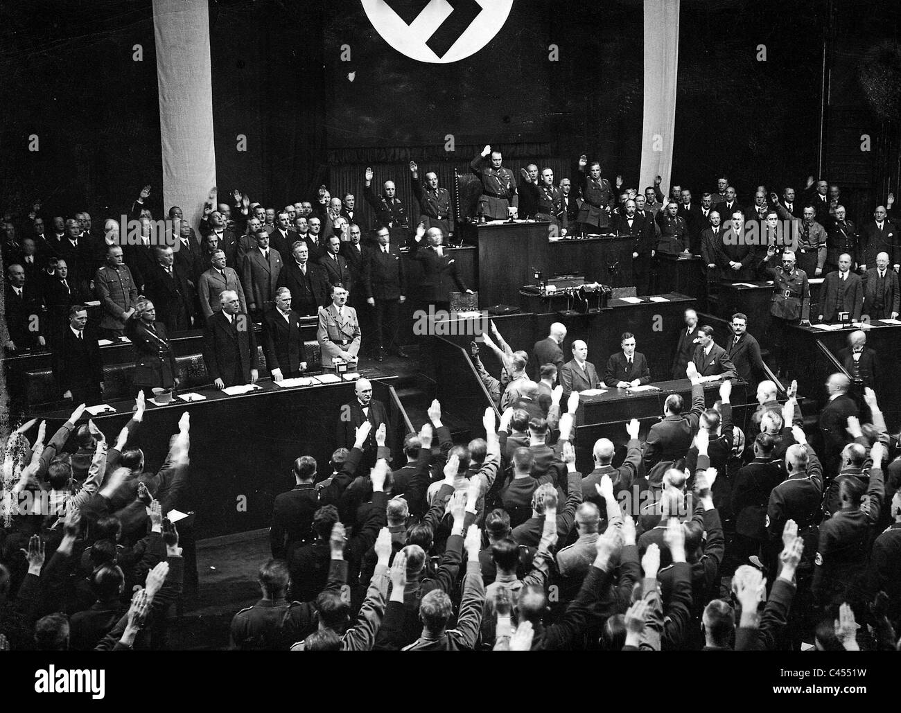 Hitler at the Reichstag session 17 May 1933 - Stock Image