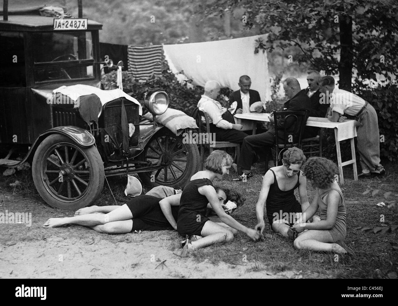Weekend getaway in the Tegel Forest, 1932 - Stock Image
