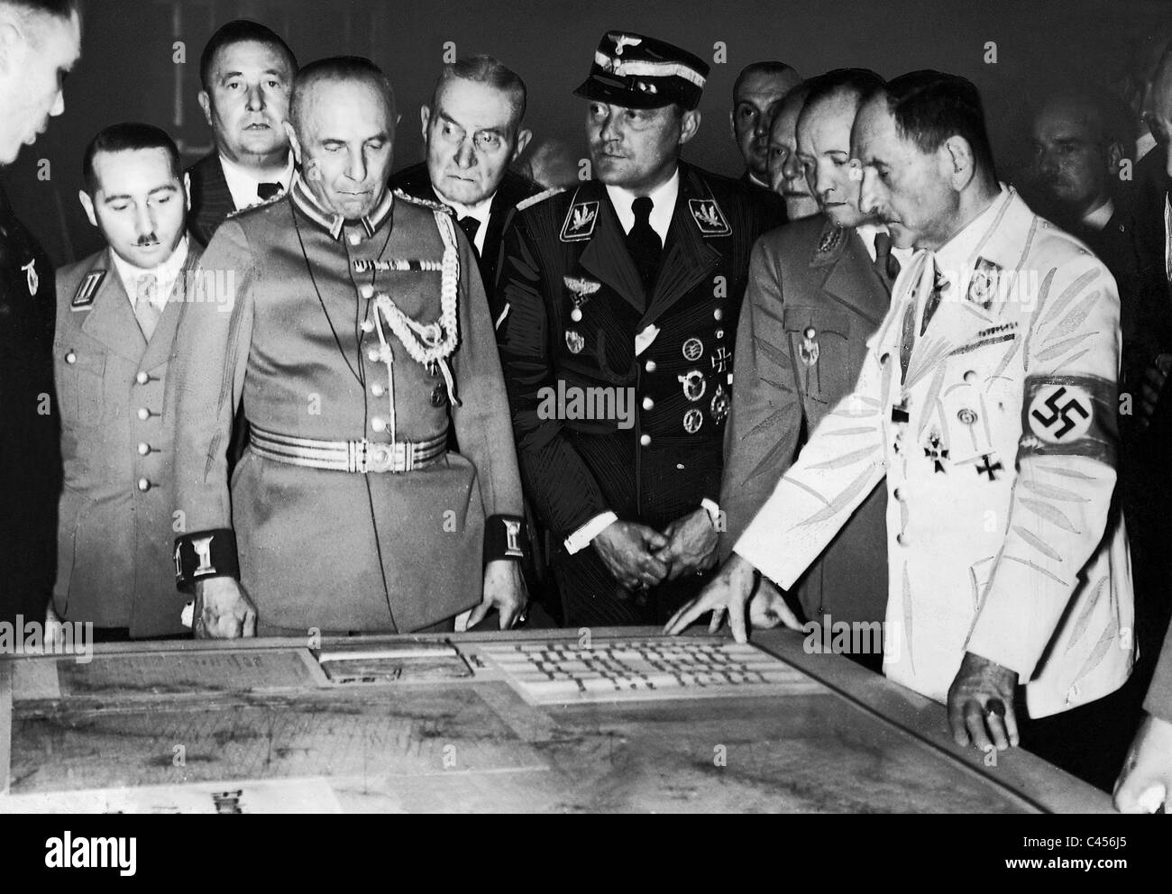 Franz Ritter von Epp opened the German Colonial Exhibition in Dresden, 1939 - Stock Image