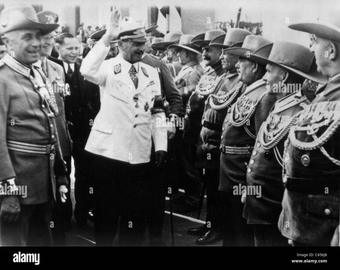 Franz Ritter von Epp at the Colonial Exhibition in Dresden, 1939 Stock Photo